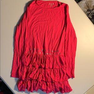 Pink ruffle tunic
